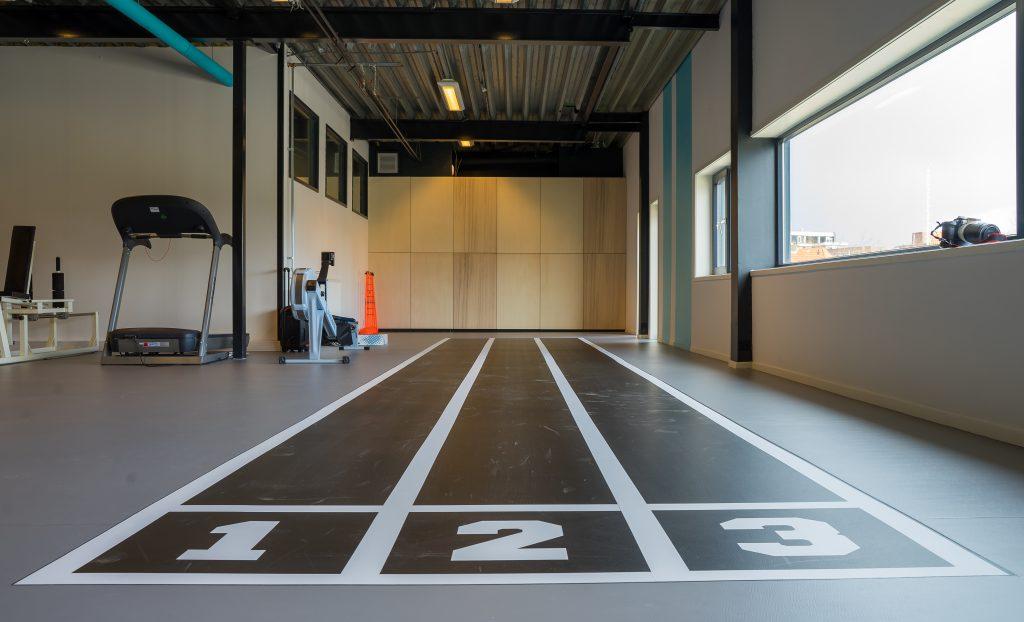 Sprinttrack Revalidatie/Trainingsruimte Fysio De Trije